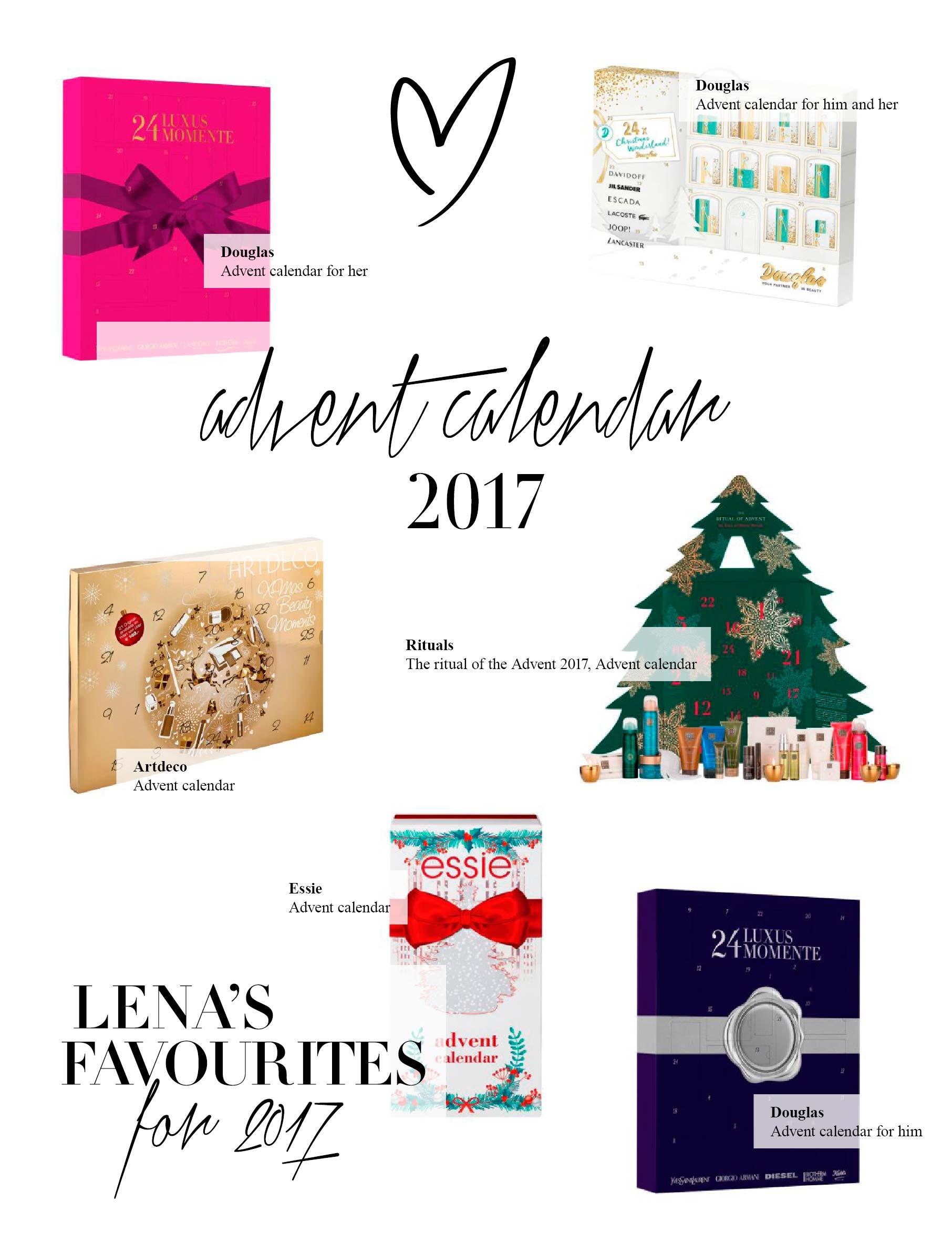 Art Deco Advent Calendar : Advent calendar editorial lena terlutter