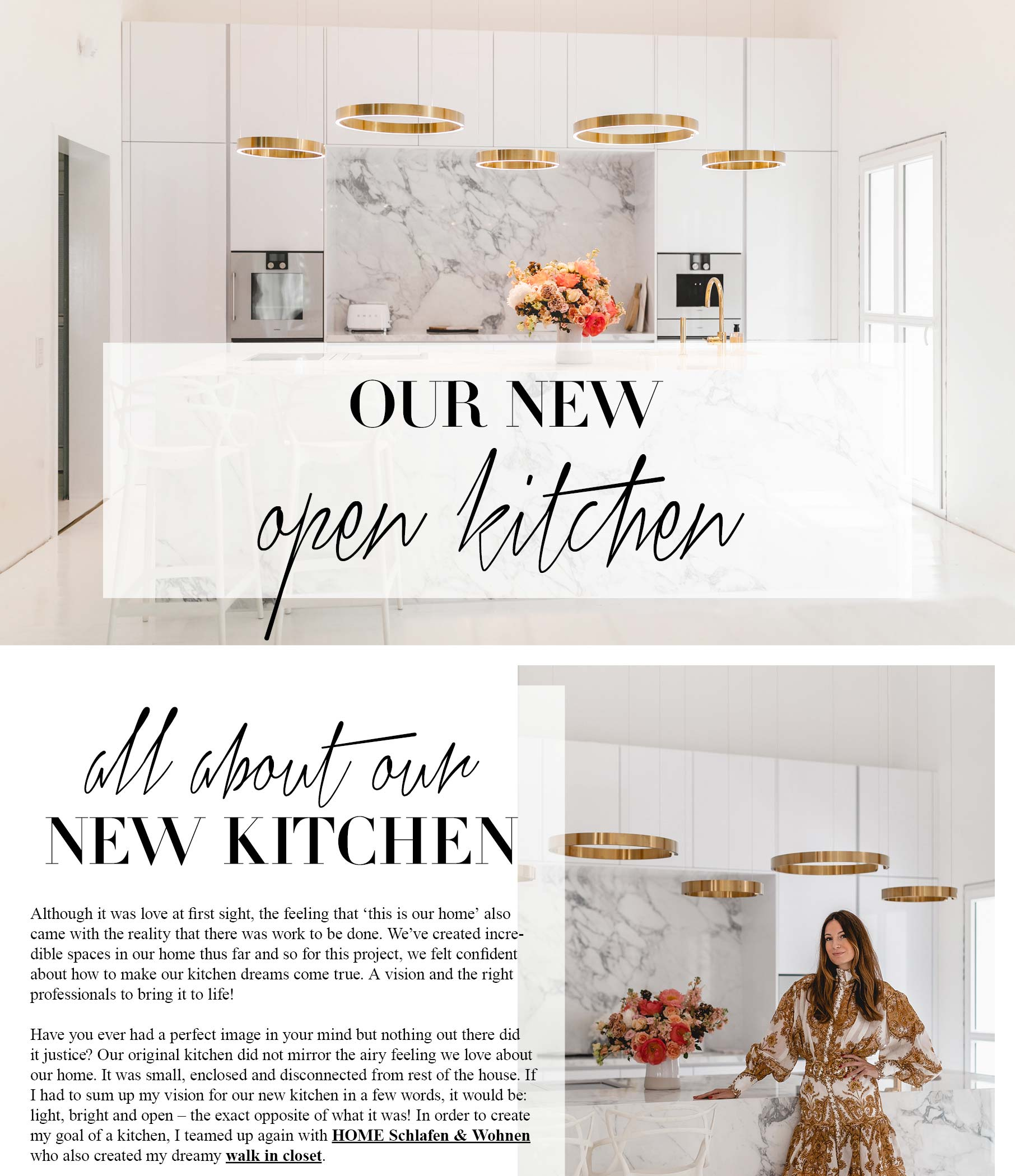 Our New Open Kitchen Lena Terlutter